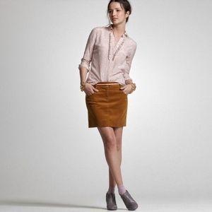 J. Crew Caramel Vintage Cord Coed Mini Skirt | 6